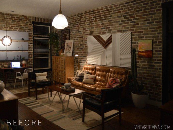 Loft Living Room Makeover Before and After vintagerevivals.com-2