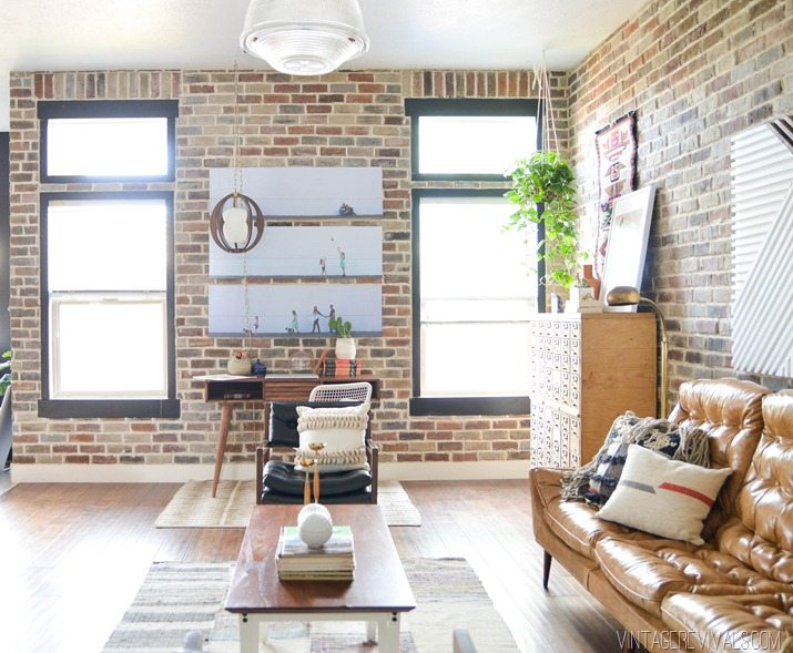 Loft Living Room Makeover Vintagerevivals 14