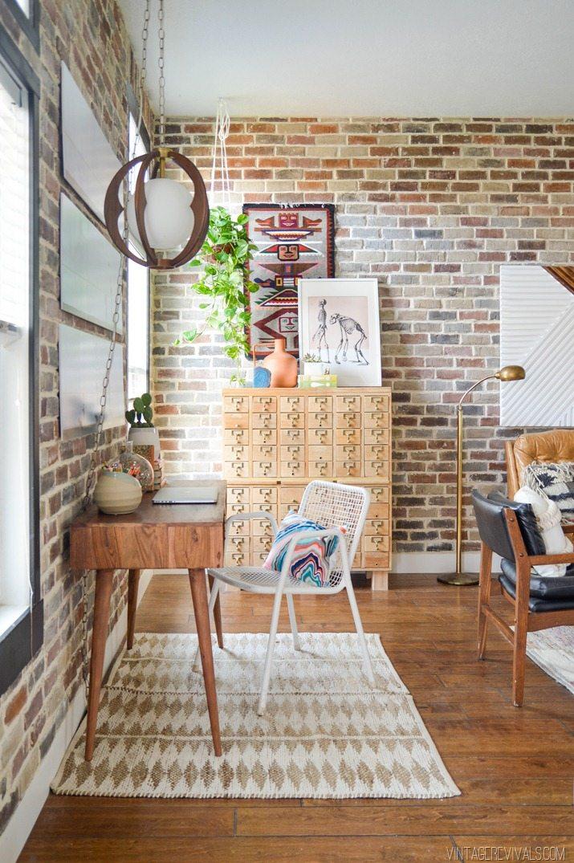 Loft Living Room Decorating Ideas: Rescuing A Craigslist Card Catalog