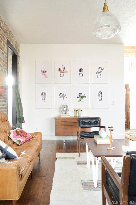 Loft Living Room Makeover vintagerevivals.com-22
