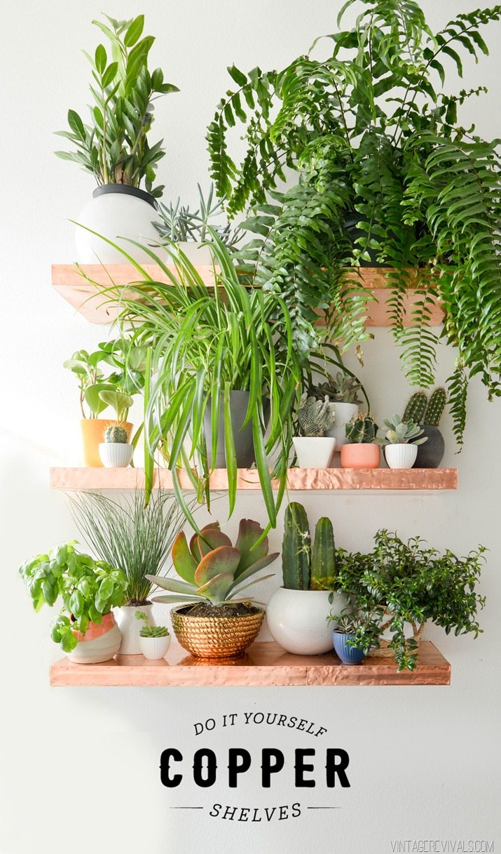 Anthro Inspired DIY Copper Shelves O Vintage Revivals