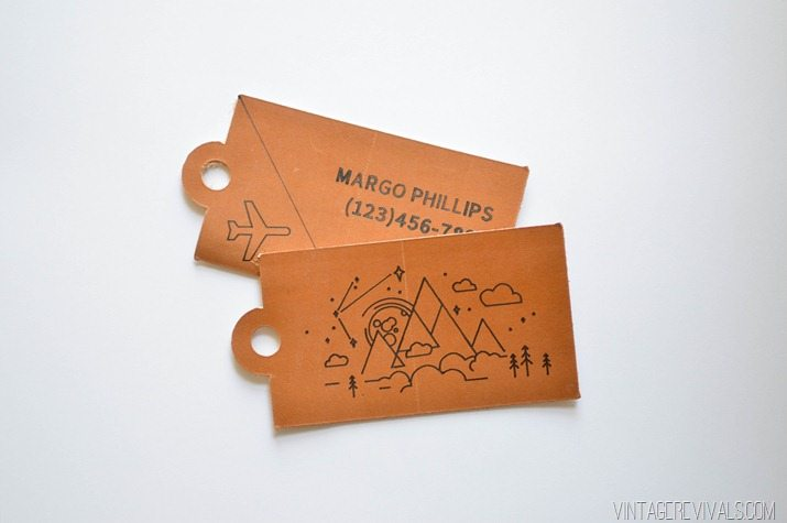 DIY Leather Luggage Tags + Cricut Explore Air Giveaway