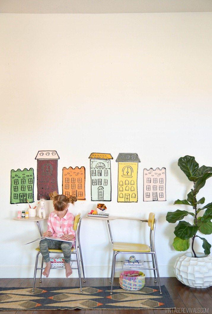 16 Row House Interior Design Ideas: DIY Row House Wall Art (so Fun For Kids!!)
