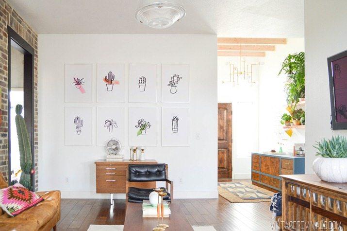 Stunning Loft Living Room Makeover vintagerevivals