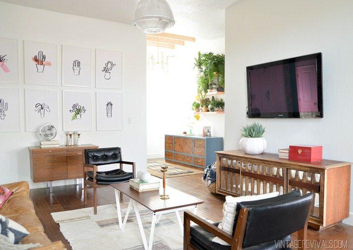 Loft Living Room Makeover vintagerevivals.com-21