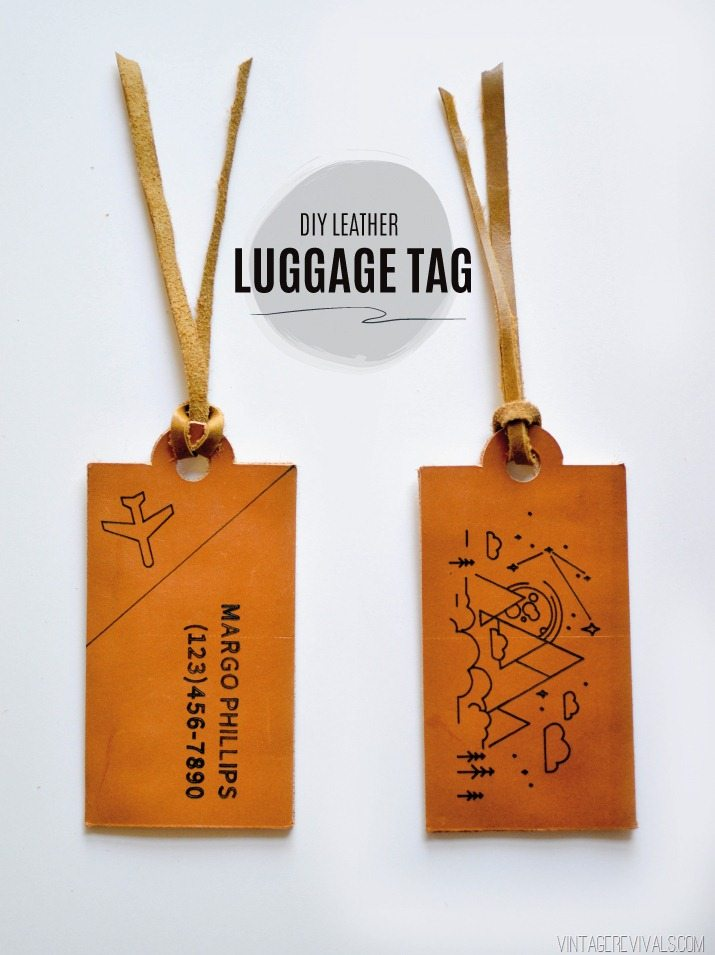 DIY Leather Luggage Tags + Cricut Explore Air Giveaway! • Vintage