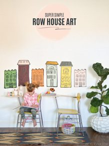 Row house wall decor