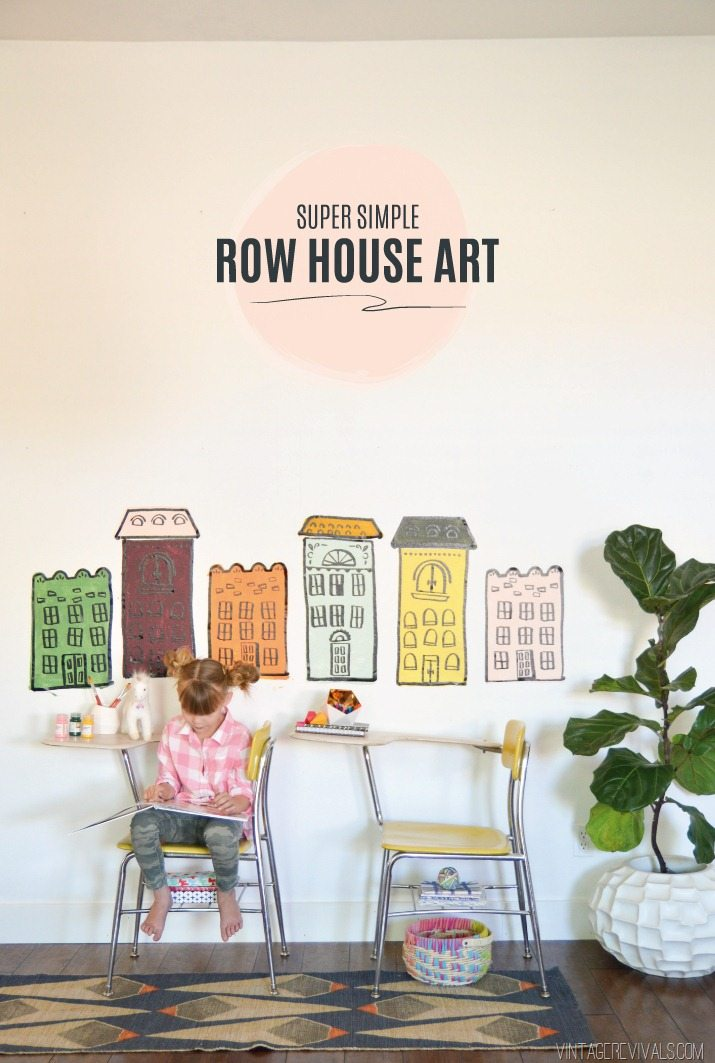 DIY Row House Wall Art