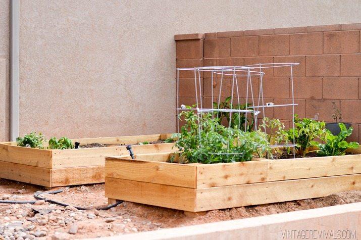 cedar garden planter box diy41