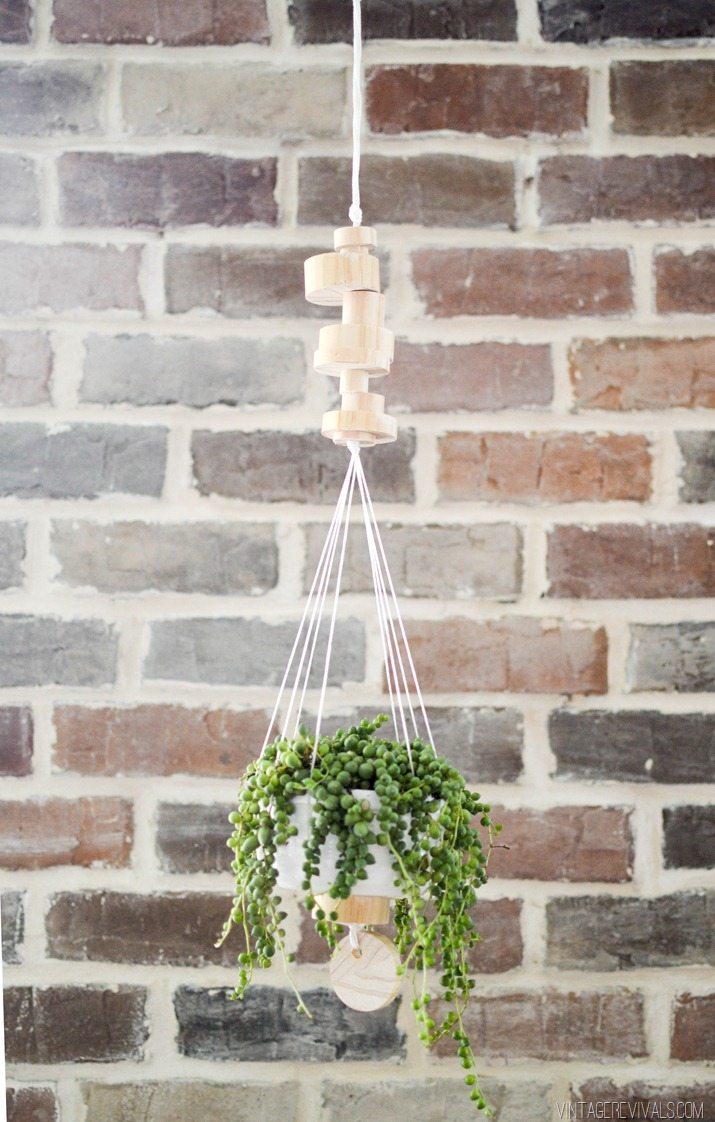 Wooden Disk Hanging Planter + $200 Home Depot Giveaway