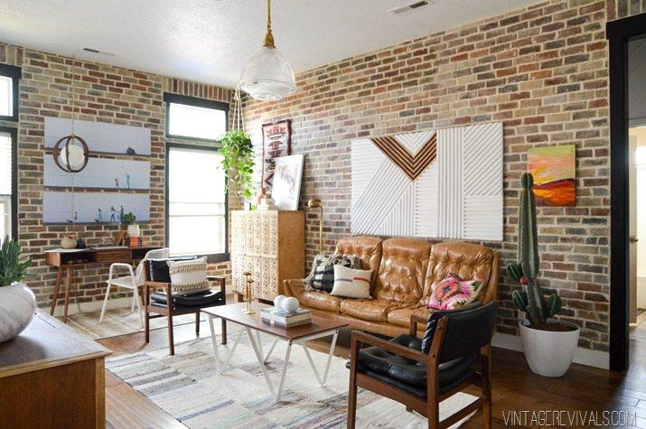 Loft Living Room Makeover vintagerevivals.com-2