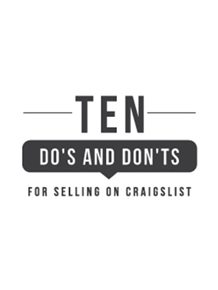 10 Do's and Don'ts For Selling on Craigslist • Vintage Revivals