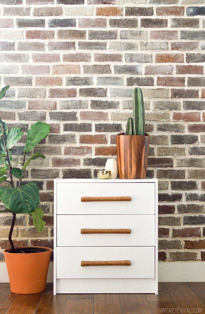 DIY Leather Handle IKEA Rast Hack