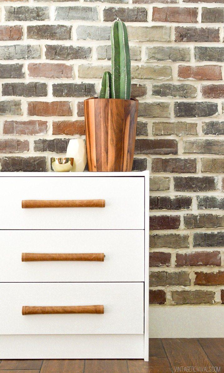 DIY Leather Handle IKEA Rast Hack-2