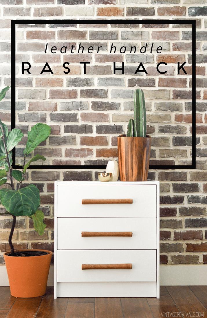 DIY Leather Handle IKEA Rast Hack Tutorial