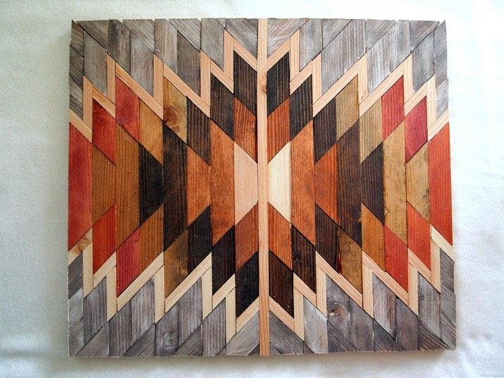 DIY-Native-American-Artwork-using-scraps-of-wood-and-different-stains-Sawdust-and-Embryos