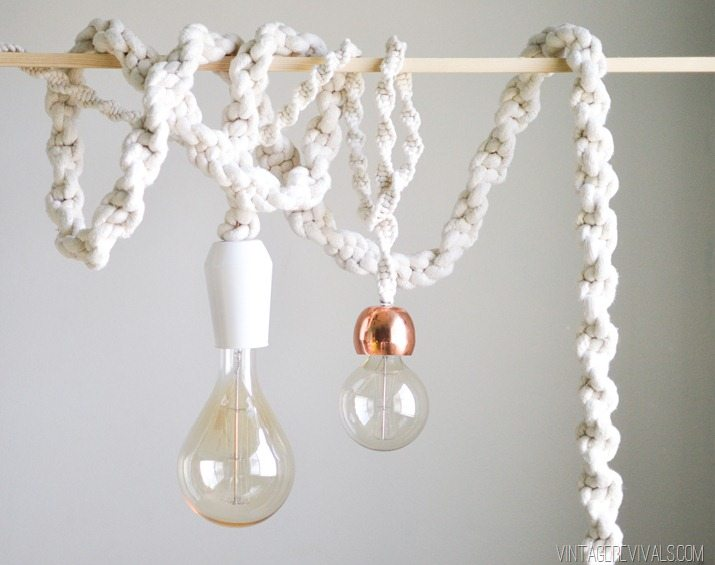 Nice Giant Macrame Rope Lights