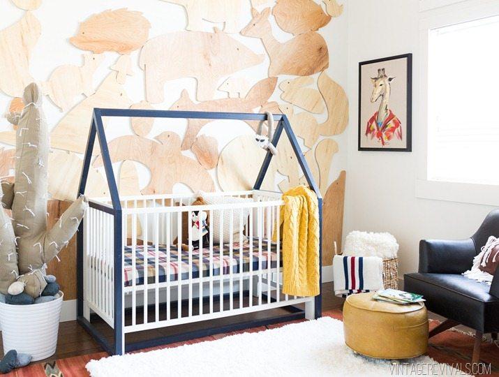 DIY Hanging Diaper Caddy Vintage Revivals - Diy baby boy nursery ideas