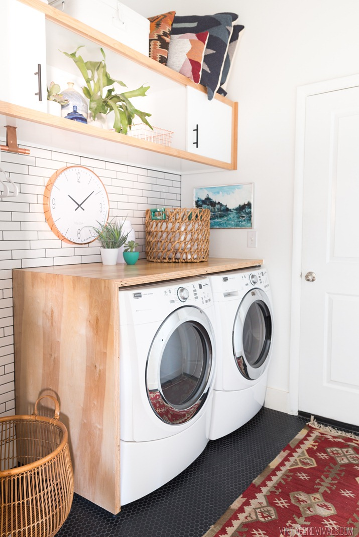laundry room makeover reveal vintage revivals. Black Bedroom Furniture Sets. Home Design Ideas