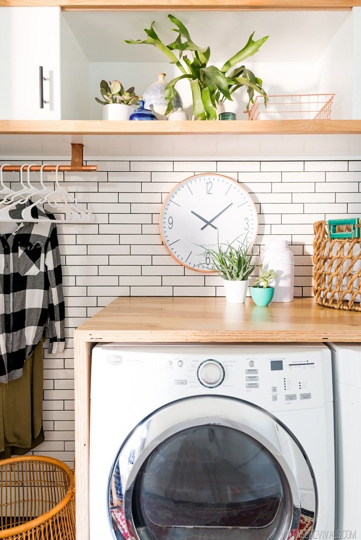 Subway Tile In A Laundry Room