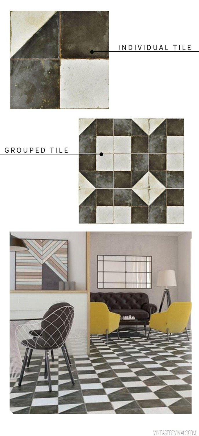 Graphic Black and White Tile Round Up  Vintage Revivals