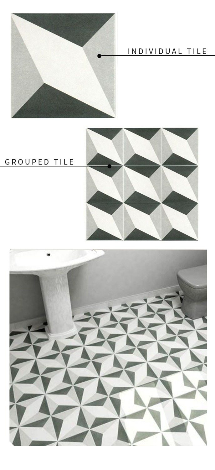 Graphic Black and White Tile Round Up  Vintage Revivals 2