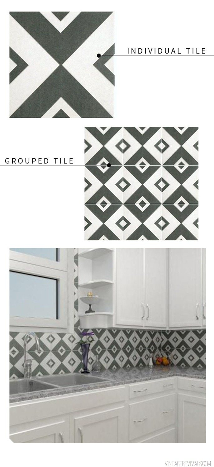 Graphic Black and White Tile Round Up  Vintage Revivals 3