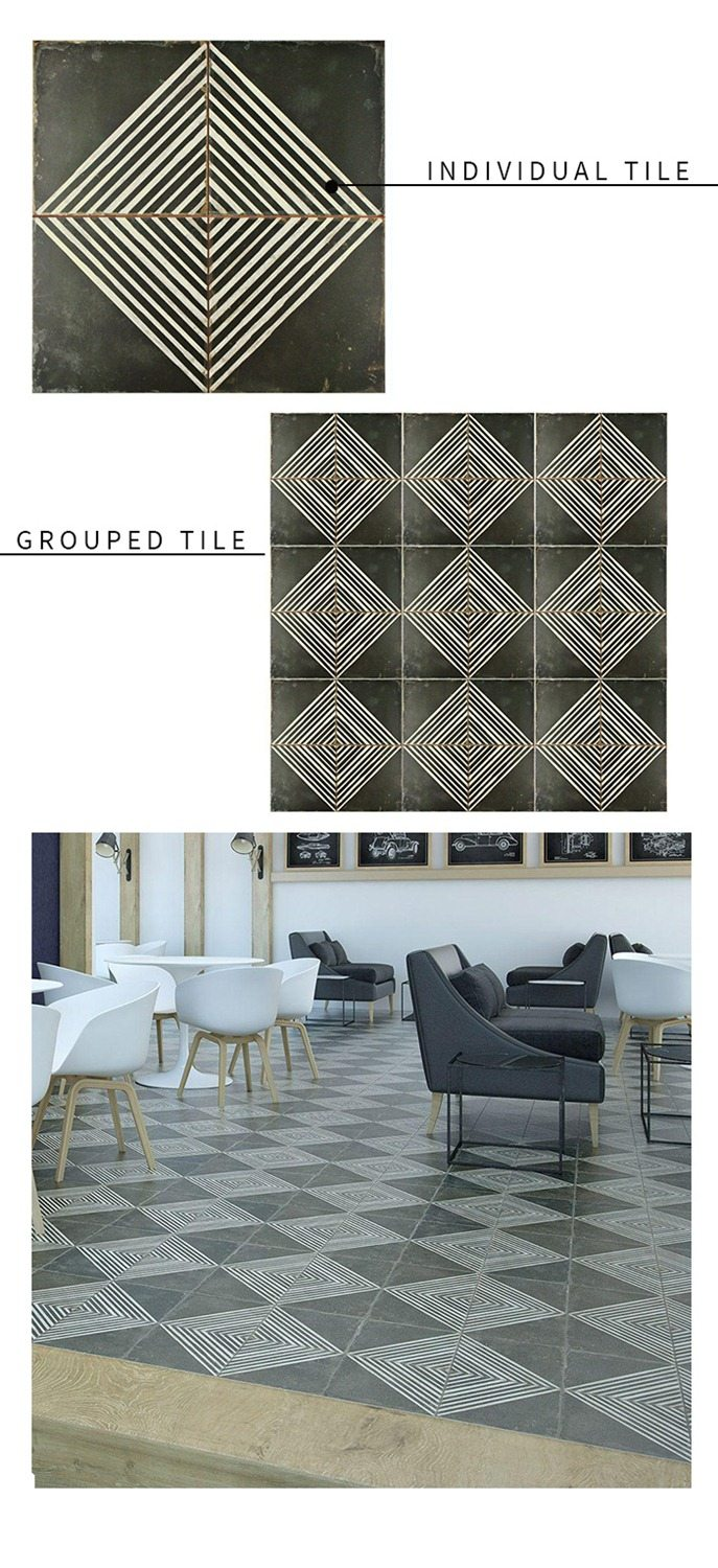 Graphic Black and White Tile Round Up  Vintage Revivals 5