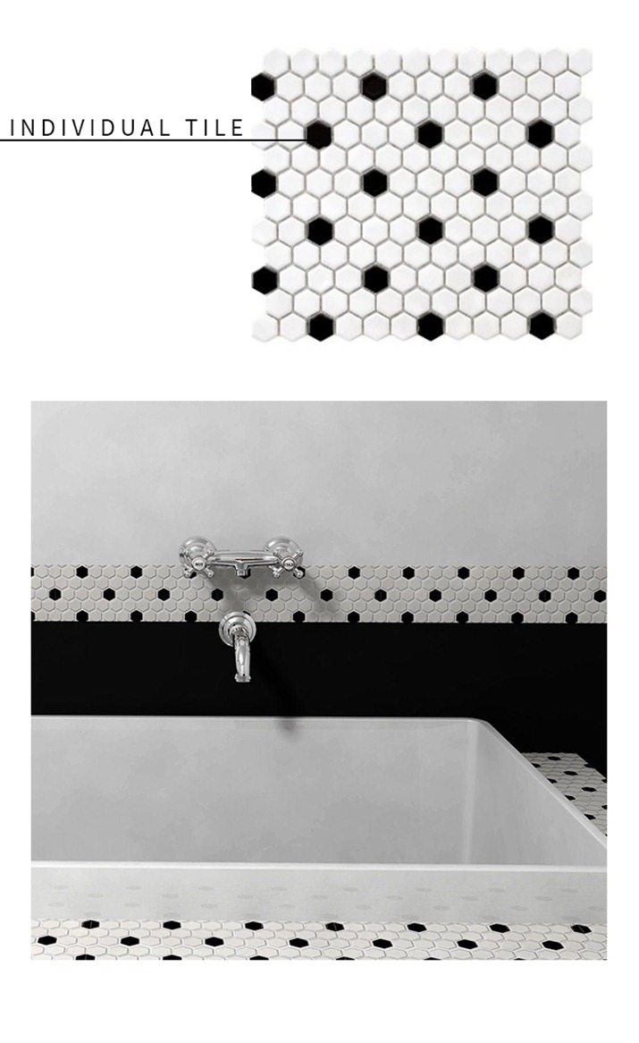 11 tile patterns youll never believe are from home depot graphic black and white tile round up vintage revivals 6 dailygadgetfo Gallery