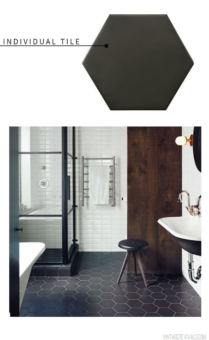 Graphic Black and White Tile Round Up  Vintage Revivals 9