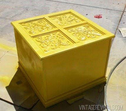 end table after paint