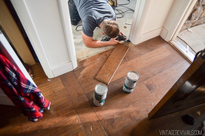 Cutting a new groove in hardwood flooring-1