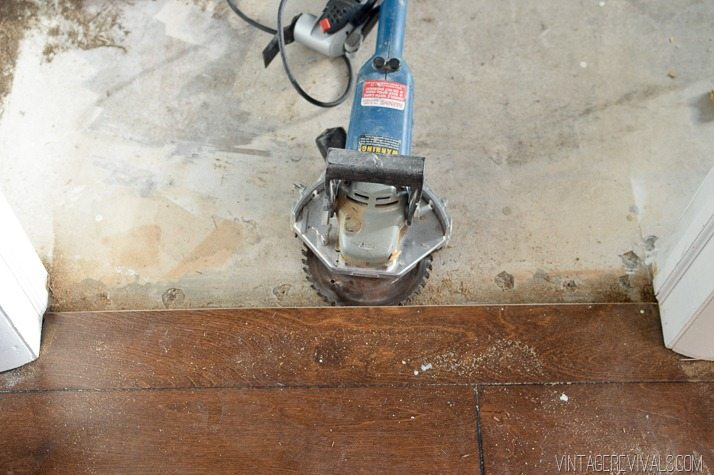 Cutting a new groove in hardwood flooring-3