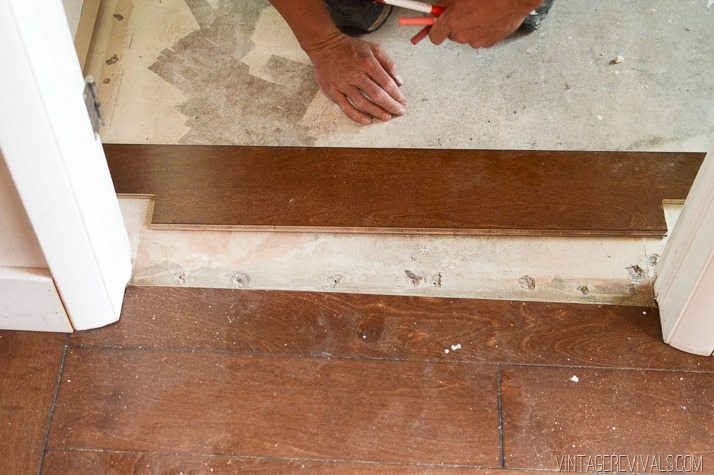 Cutting a new groove in hardwood flooring-7