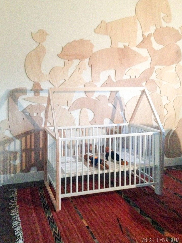 diy house framed ikea crib vintage revivals14