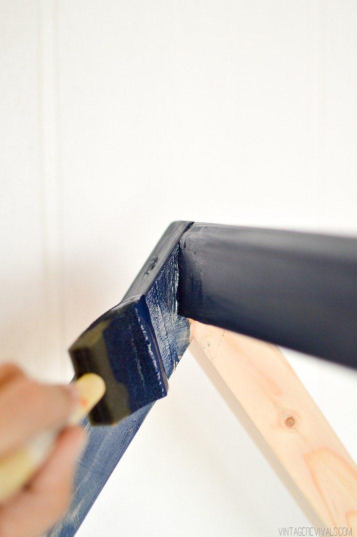 DIY House Framed IKEA Crib  Vintage Revivals-5
