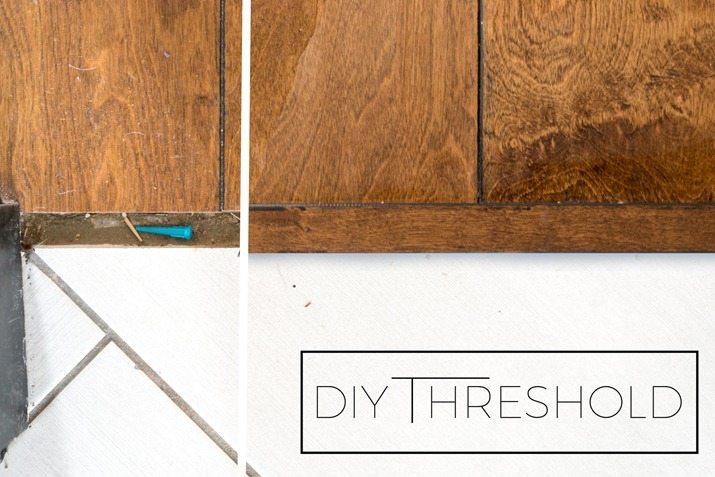 Own Threshold Piece For Wood Flooring, Hardwood Flooring Threshold Transition