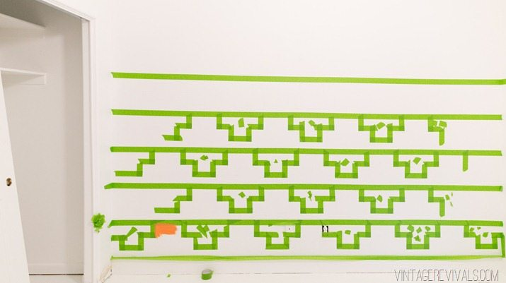 Tips for Taping Off a Wall Pattern for Painting-19