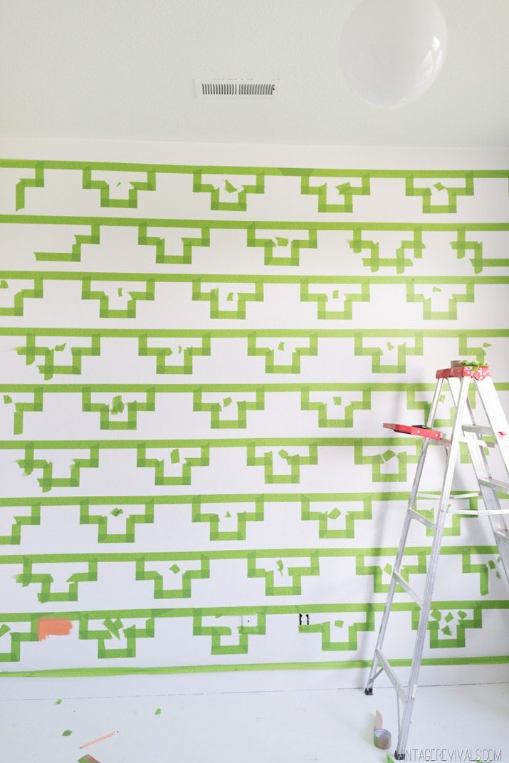 Tips for Taping Off a Wall Pattern for Painting-28