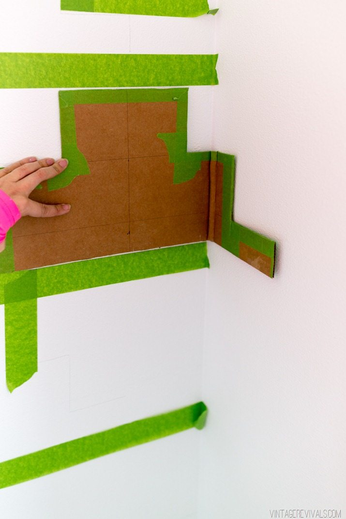 Tips for Taping Off a Wall Pattern for Painting-29