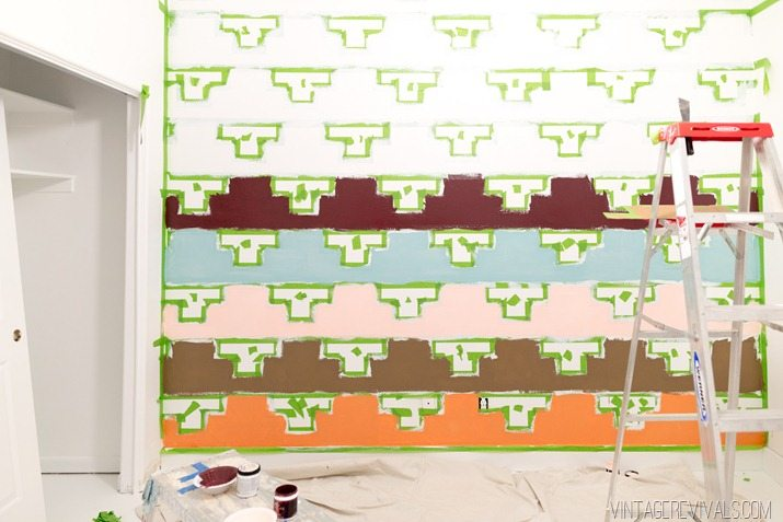 Tips for Taping Off a Wall Pattern for Painting-32