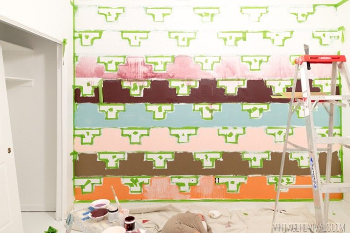 Tips for Taping Off a Wall Pattern for Painting-33