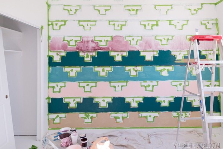 Tips for Taping Off a Wall Pattern for Painting-34