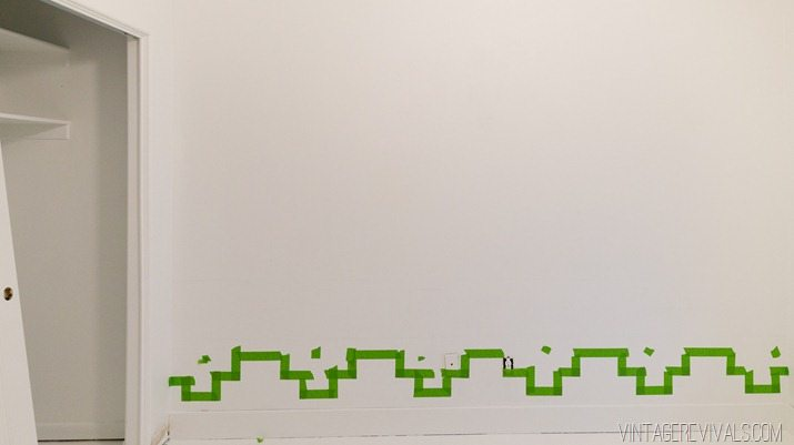 Tips for Taping Off a Wall Pattern for Painting-5
