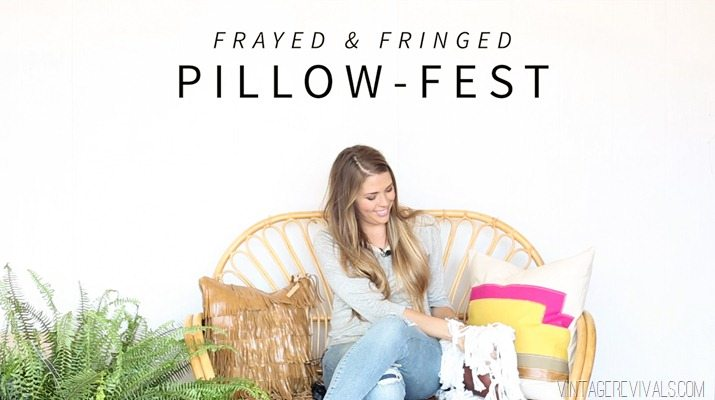 Pillow-fest! DIY Rope Fringe Pillow