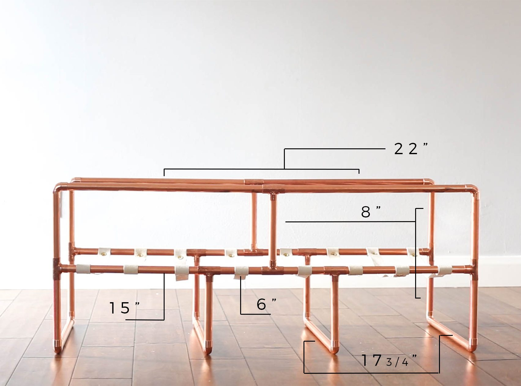 Copper Coffee Table Assembly