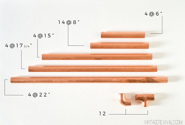 DIY Copper Sling Coffee Table Pipe Measurements vintagerevivals.com-5