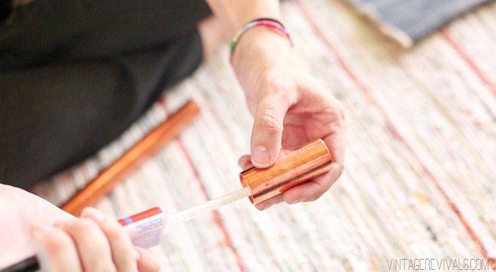 DIY Copper Sling Coffee Table vintagerevivals.com-17