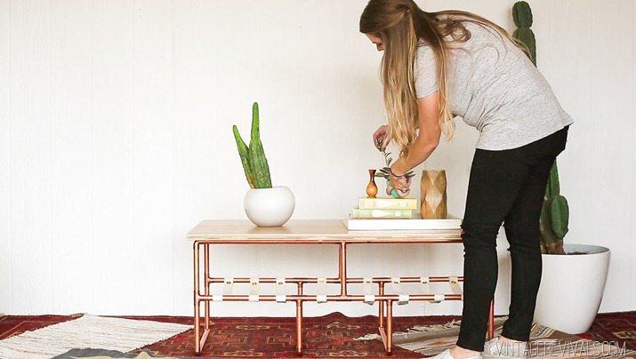 DIY Copper Sling Coffee Table vintagerevivals.com-20