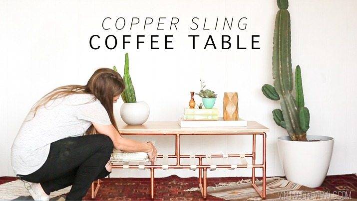 DIY Copper Sling Coffee Table vintagerevivals.com-21